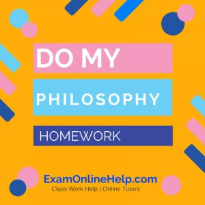 Do my philosophy homework