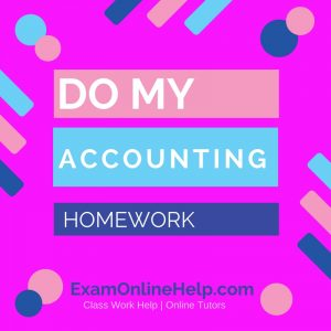 Do My Accounting Homework