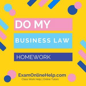 Do My Business Law Homework