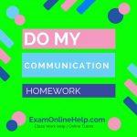 Do My Communication Homework