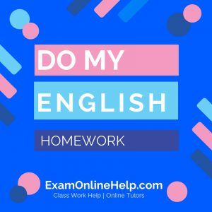 Online english homework help