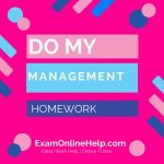 Do My Management Homework