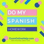 Do My Spanish Homework