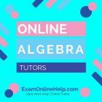 Online Algebra Tutors