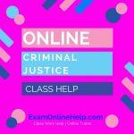 Online Criminal Justice Class Help