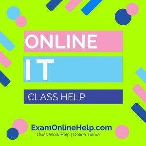 Online Information Technology Class Help