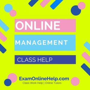 Online Management Class Help