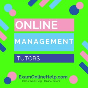 Online Management Tutors
