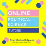 Online Political Science Tutors