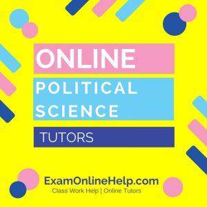 Online Political Science Tutors