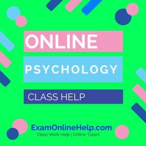 Online Psychology Class Help