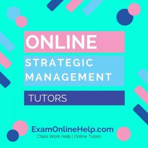 Online Strategic Management Tutors