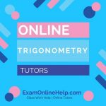 Online Trigonometry Tutors