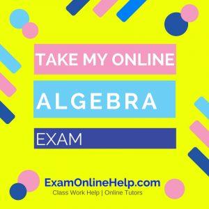 Take My Online Algebra Exam