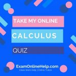 Take My Online Calculus Quiz