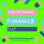 Take My Online Finance Quiz