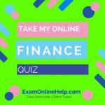 Take My Online Finance Quiz