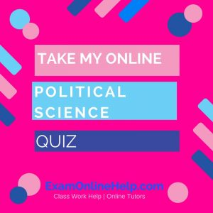 Take My Online Political Science Quiz