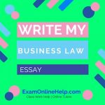 Write My Business Law Essay