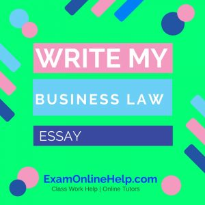 Write my law essay