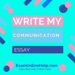 Write My Communication Essay
