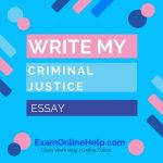 Write My Criminal Justice Essay