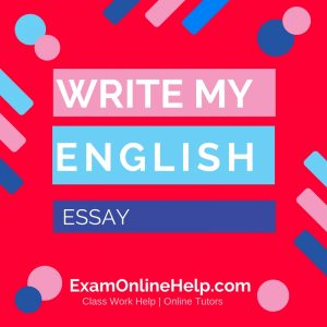 Write My English Essay