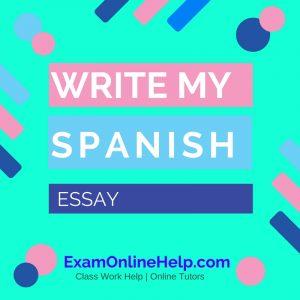 Write My Spanish Essay