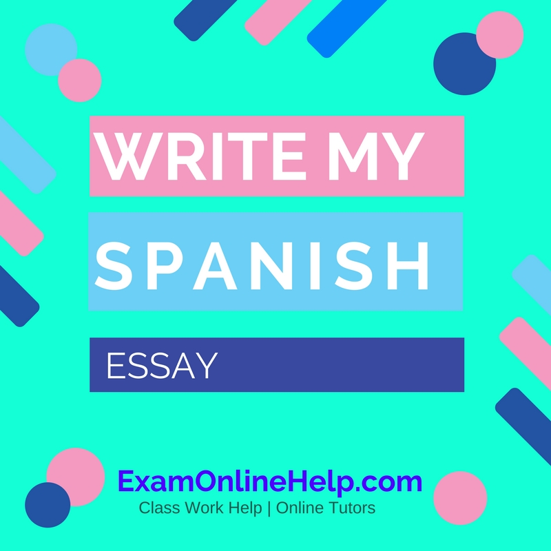 Writing paper help in spanish