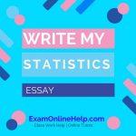 Write My Statistics Essay
